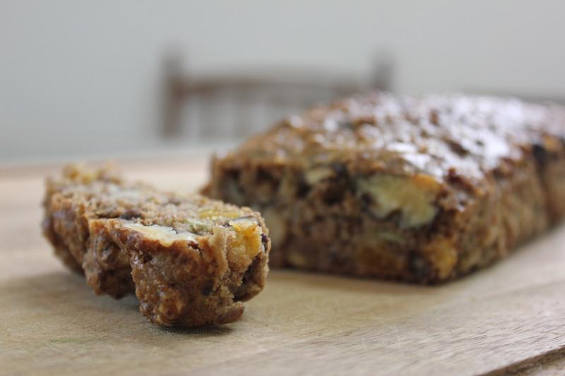 Nutty Apricot Bread Loaf (gluten-free, grain-free, sugar-free)