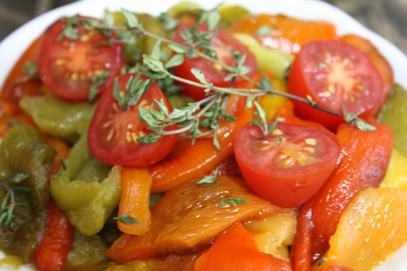 Matbucha: Morrocan Roasted Pepper and Tomato Salad