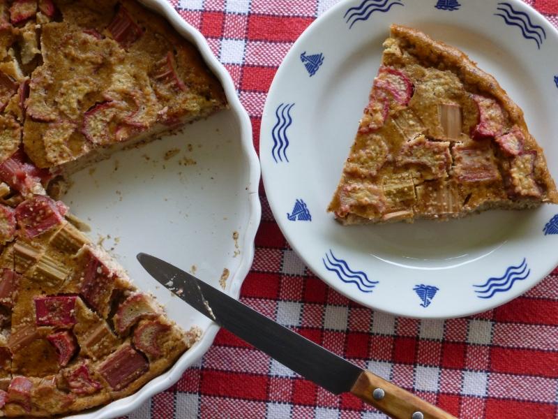 Rhubarb Clafoutis (gluten-free, dairy-free, paleo)