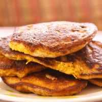 Curried Squash and Bacon Pancakes