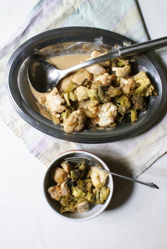 Creamy Chicken, Cauliflower and Broccoli Bake