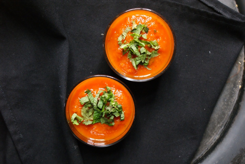 Carrot Mint Gazpacho by My Little Jar of Spices
