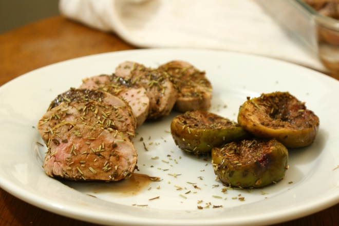 Pork Tenderloin with Balsamic Roasted Figs by My Little Jar of Spices