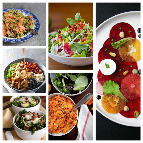 25 Beautiful Salad Recipes Round-Up
